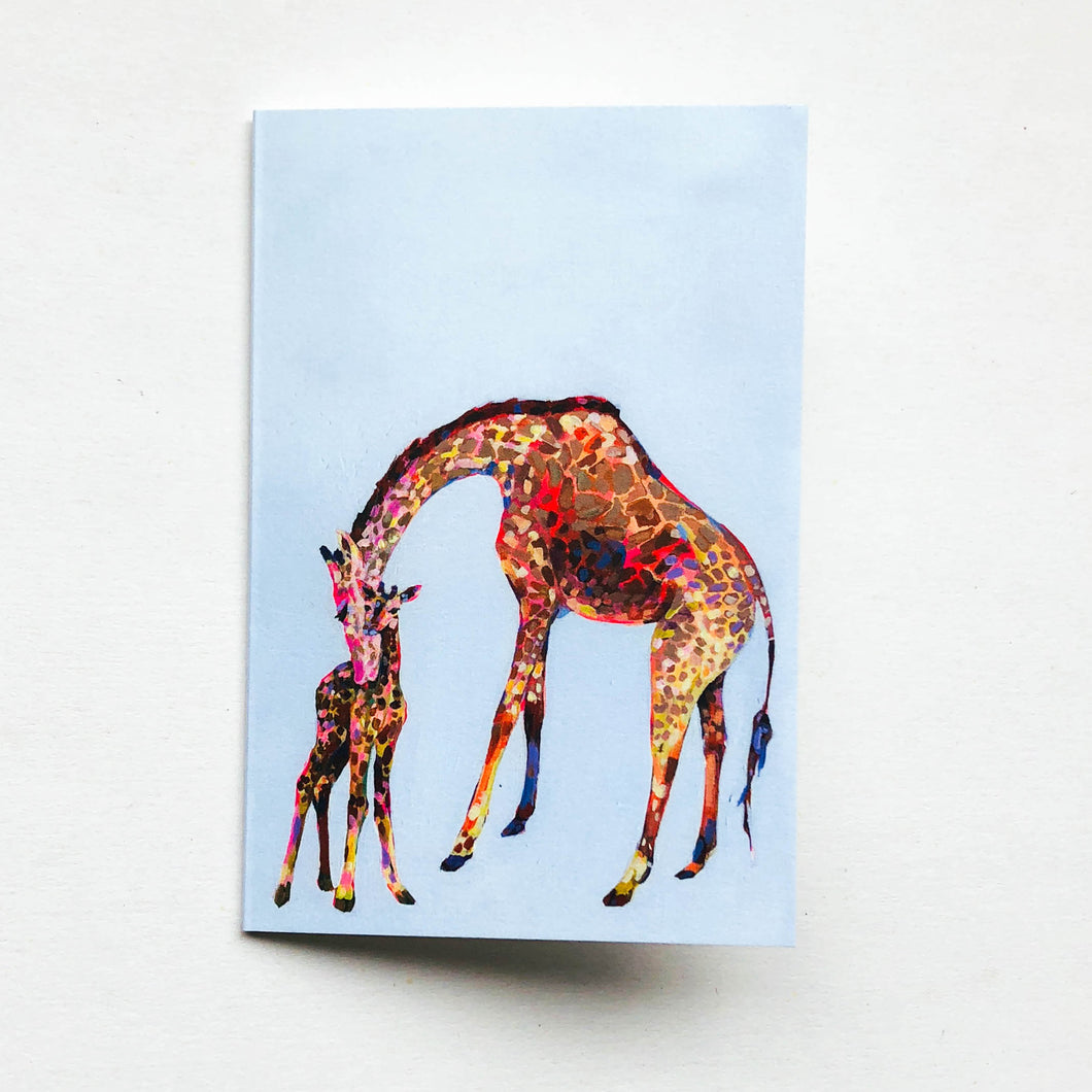 giraffe baby greeting card
