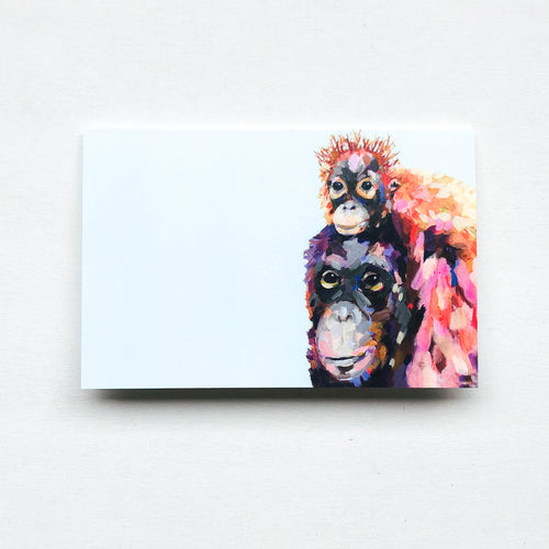 wee orangutang greeting card