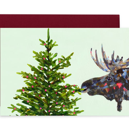 holiday moose greeting card