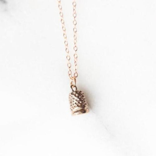 thimble  necklace