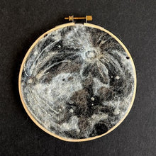 DIY flat felting kit: full moon