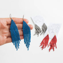 solid colour beaded earrings