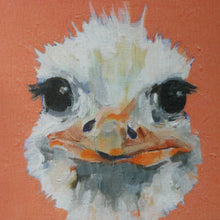ostrich mug shot greeting card