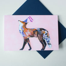 party fox greeting card