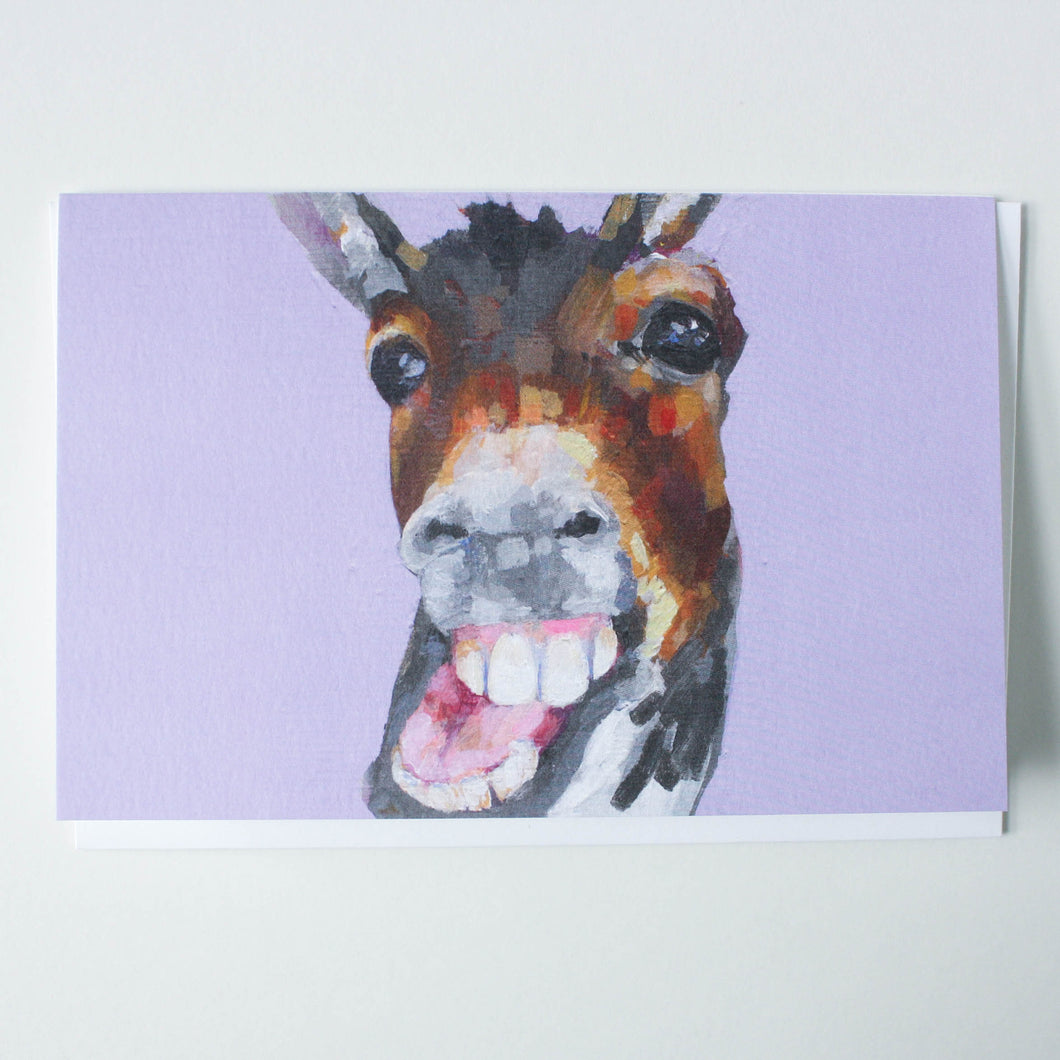 donkey mugshot greeting card