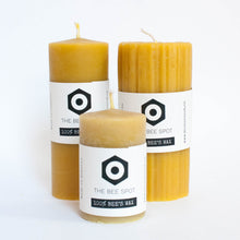 beeswax candle - large smooth pillar