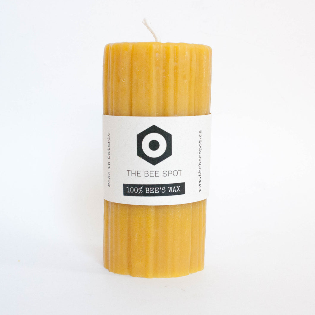 beeswax candle pillar