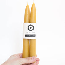 beeswax candle tapers (2 pack)