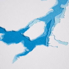 Pigeon Lake bathymetric map 8x10""
