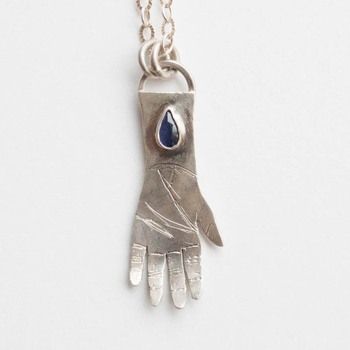 lolite hand necklace