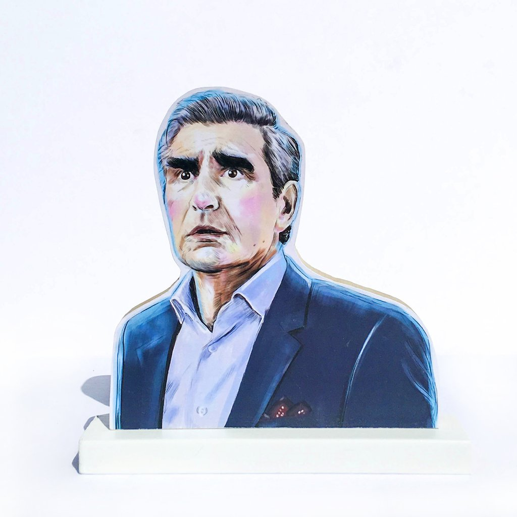 Johnny Rose (Shitt's Creek) wooden standee