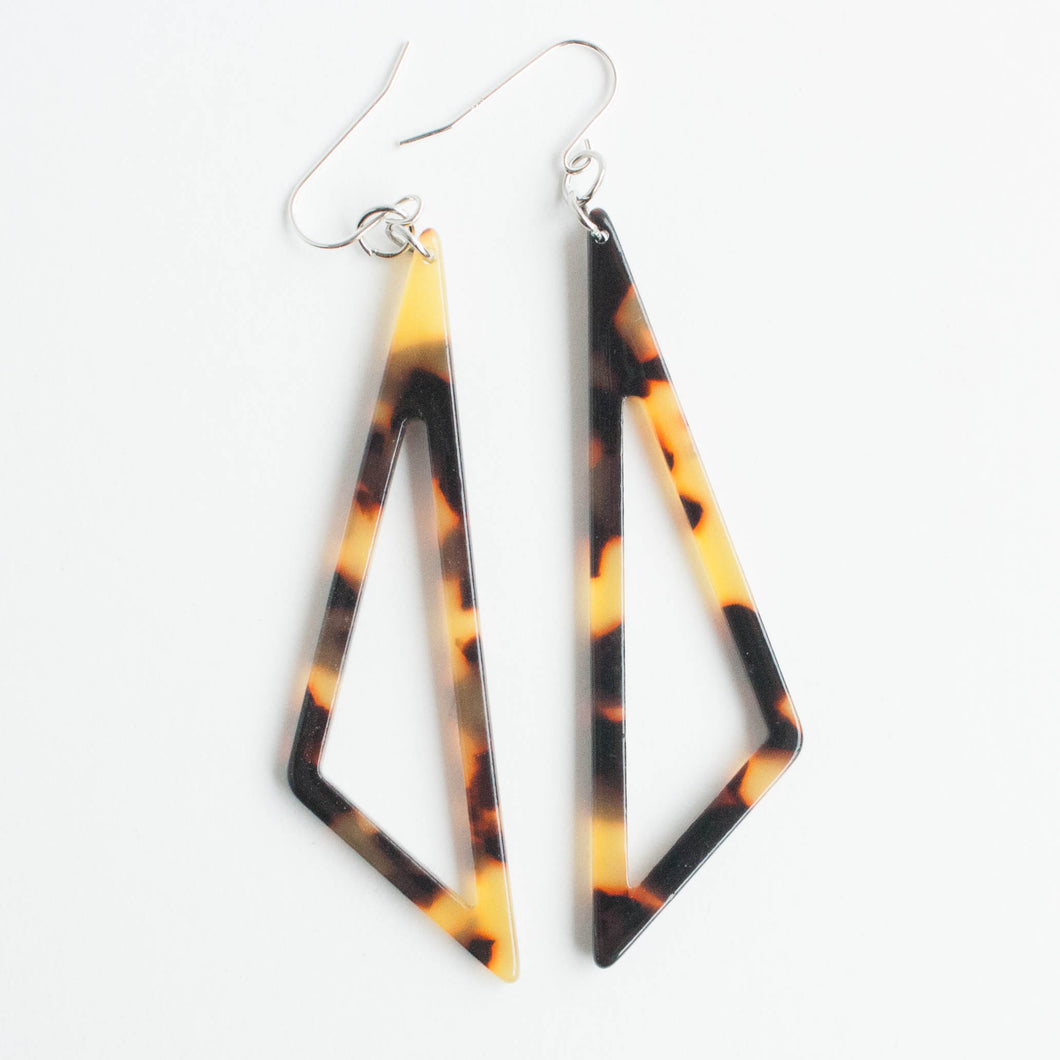 scalene triangle acetate earrings