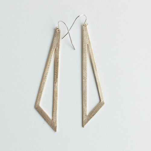scalene brass earrings