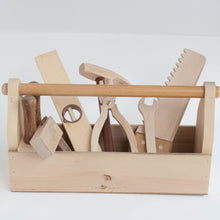 woodworker's caddy with 8 tools - play set