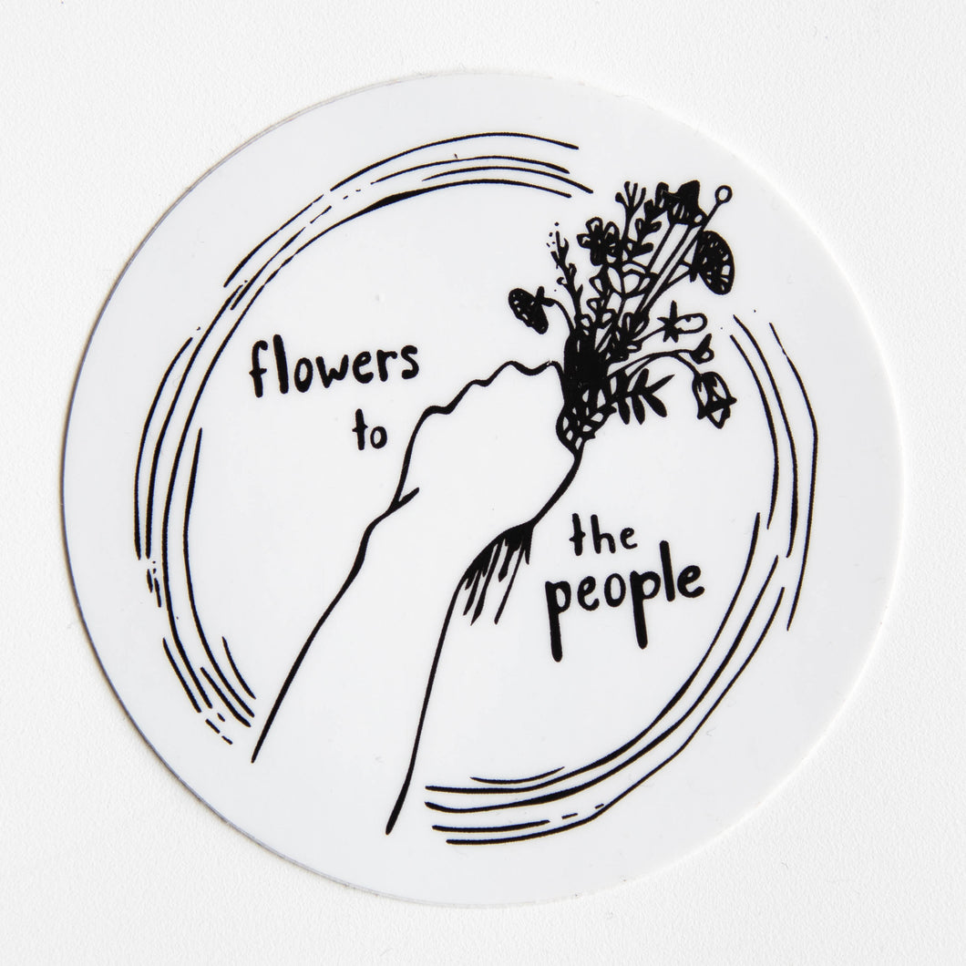 flowers to the people sticker