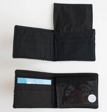 recycled vintage fabric bi-fold wallets