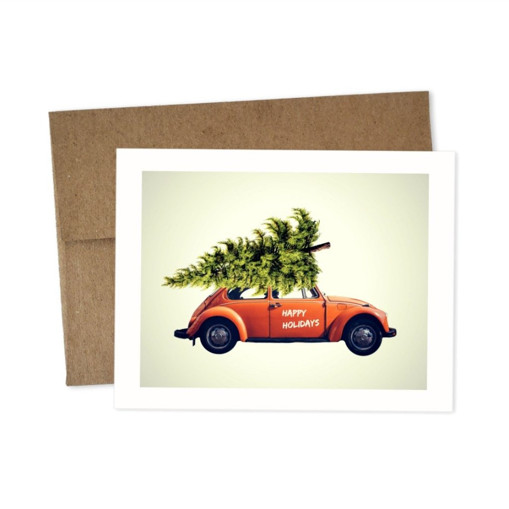happy holidays cards (5 pack)