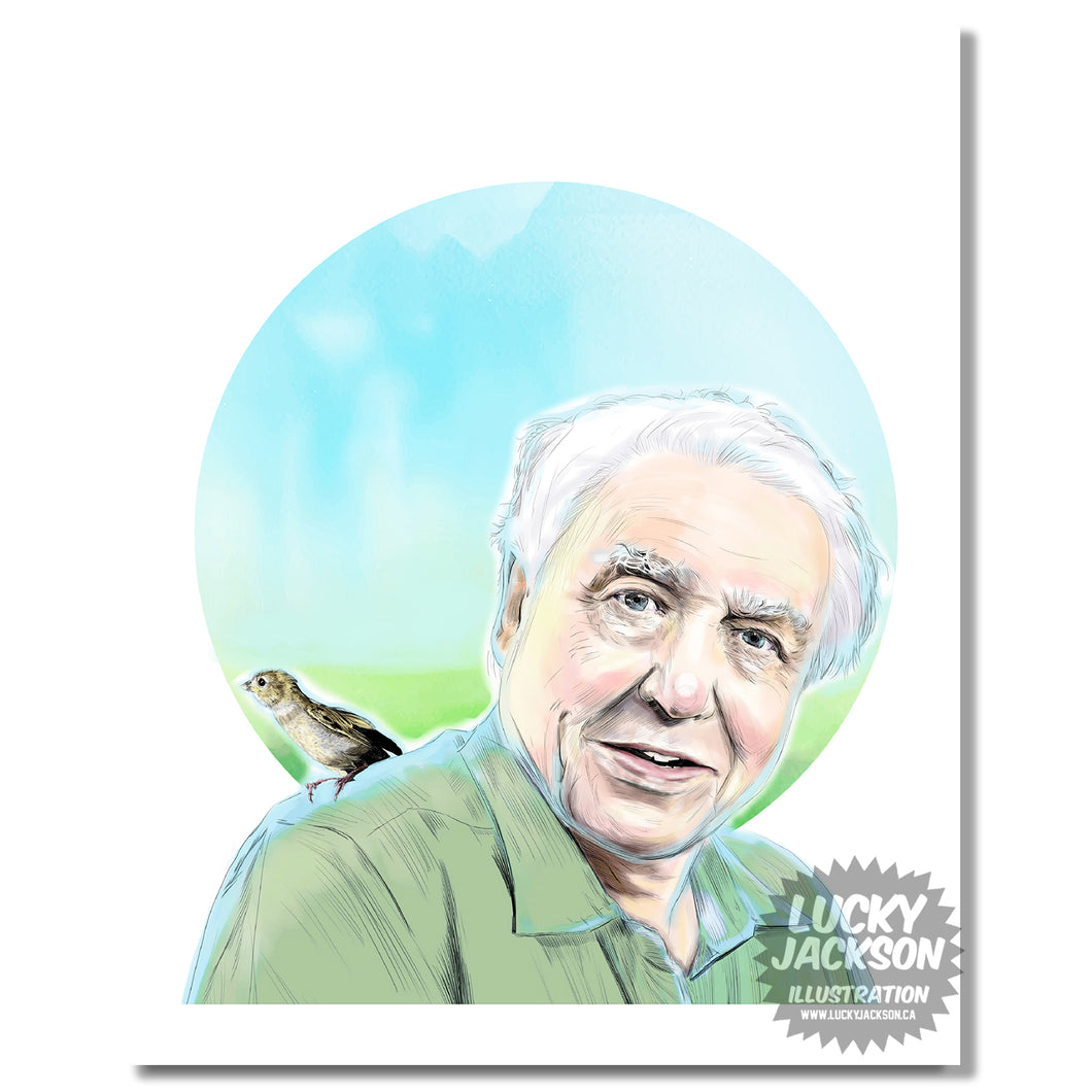David Attenborough 8x10 print