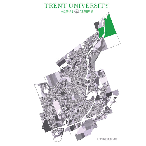 Trent University & City of Peterborough map 11x17