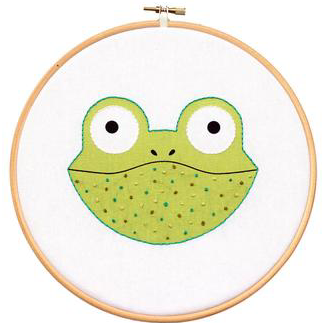 DIY hoop art kit: froggie