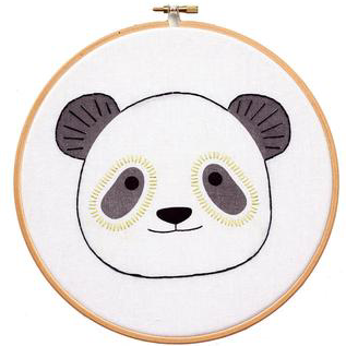 DIY hoop art kit: panda