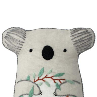 DIY embroidered doll kit: koala