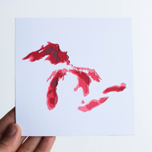 great lakes bathymetric map mini 5x5