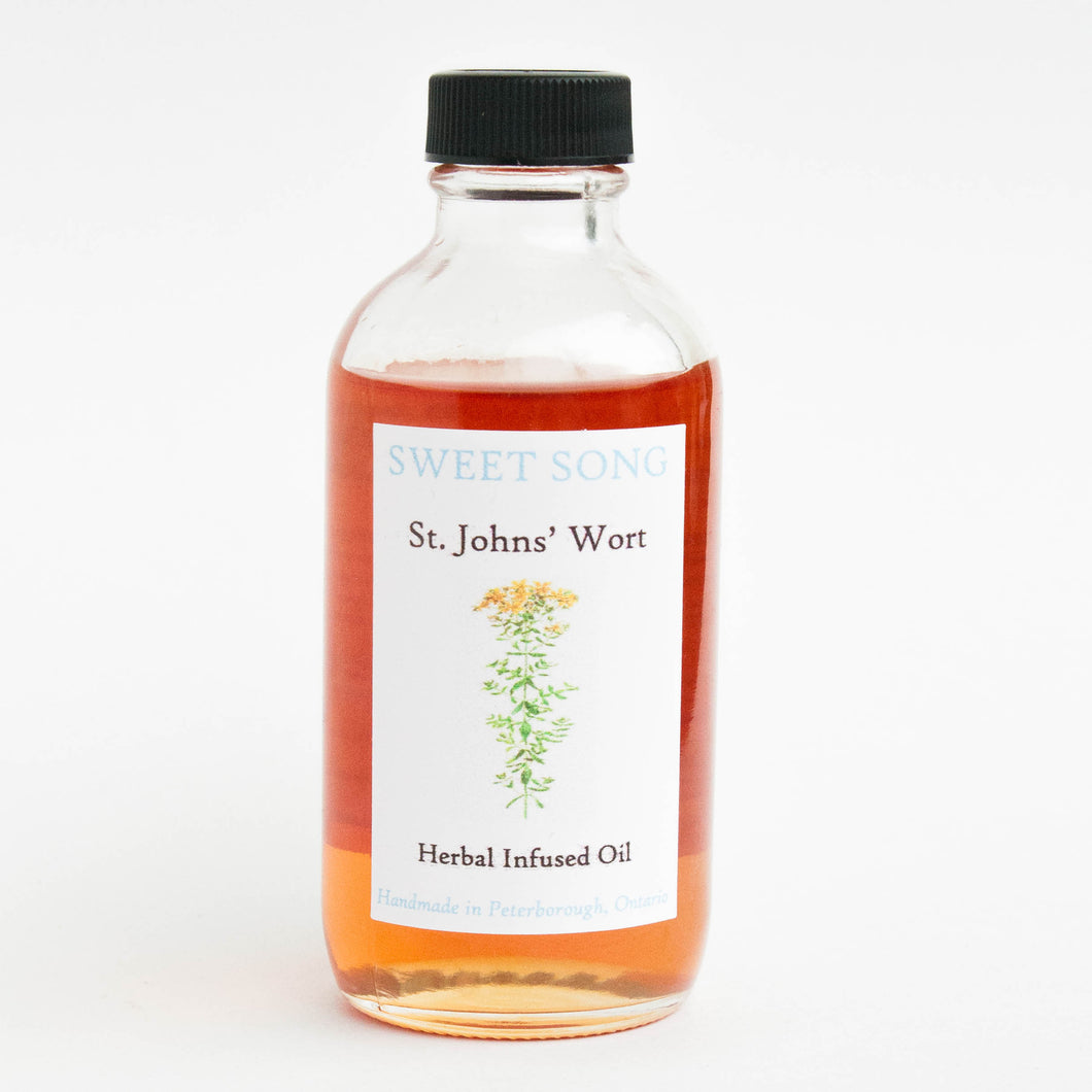 st. john's wort herbal infused oil for pain