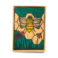 busy bee linocut greeting card