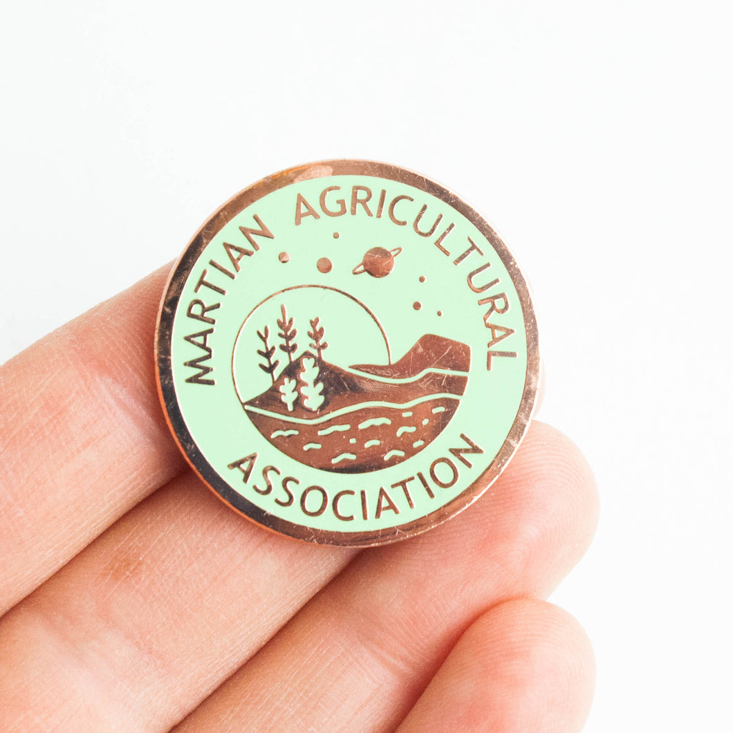 Martian Agrigultural Association pin