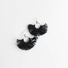 fringe macramé earrings - more colours