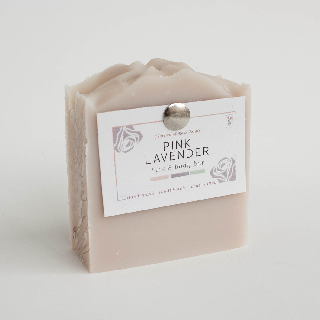 pink lavender hand and body bar