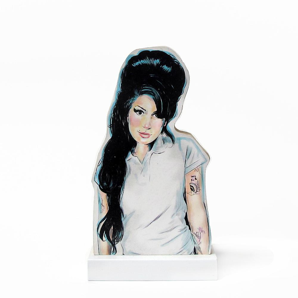 Amy Winehouse wooden standee