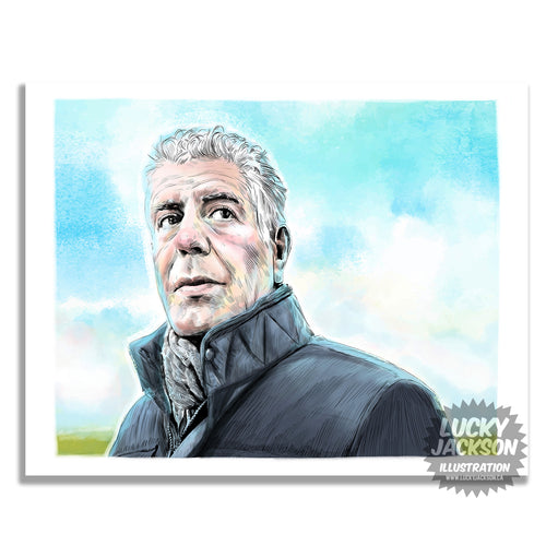 Anthony Bourdain 8x10 print