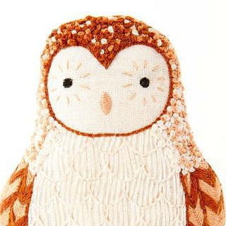 DIY embroidered doll starter kit: barn owl