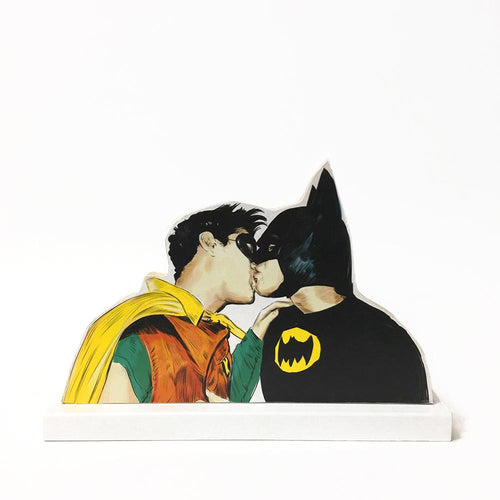 Batman loves Robin wooden standee