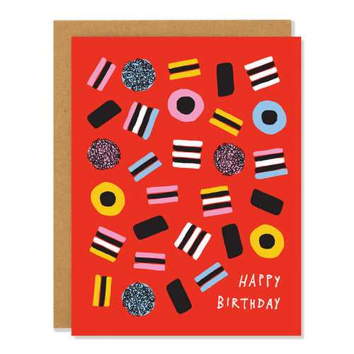 licorice birthday card