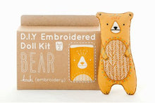 DIY embroidered doll kit: bear