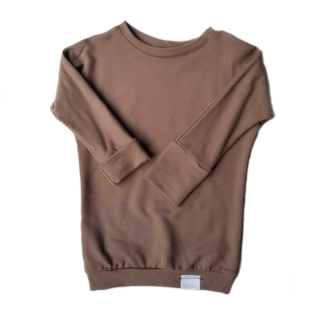 grow with me sweater - espresso