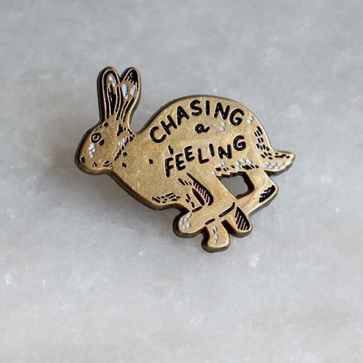 chasing a feeling lapel pin