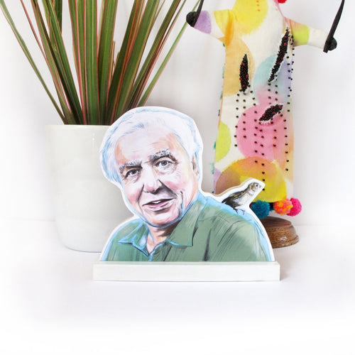 David Attenborough wooden standee