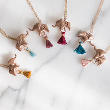 elephant and tassel necklace