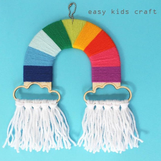 yarn rainbow - craft kit for kids