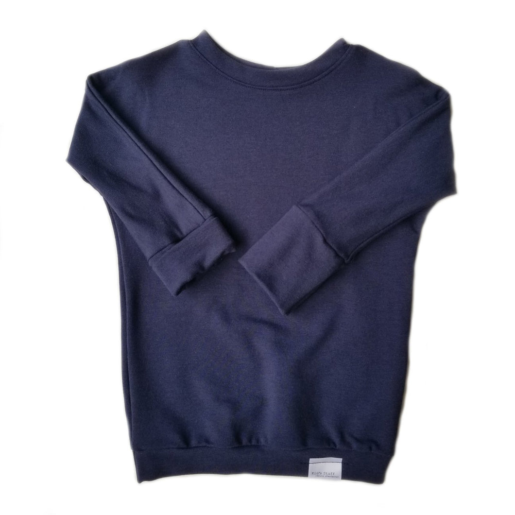 grow with me sweater - navy