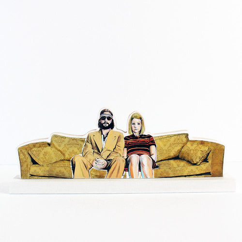 Royal Tenenbaums, Margot & Richie on sofa cultural standee