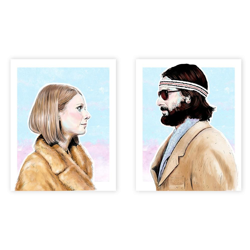 Margot and Richie (Royal Tenenbaums) Set 8x10 print