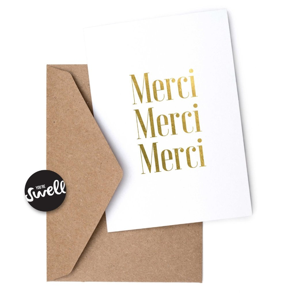 Merci Merci Merci card
