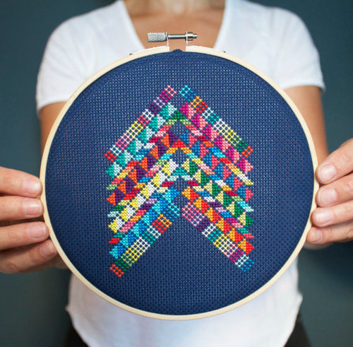 DIY cross stitch kit: Mexico abstract
