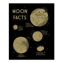 moon facts print 16x20""