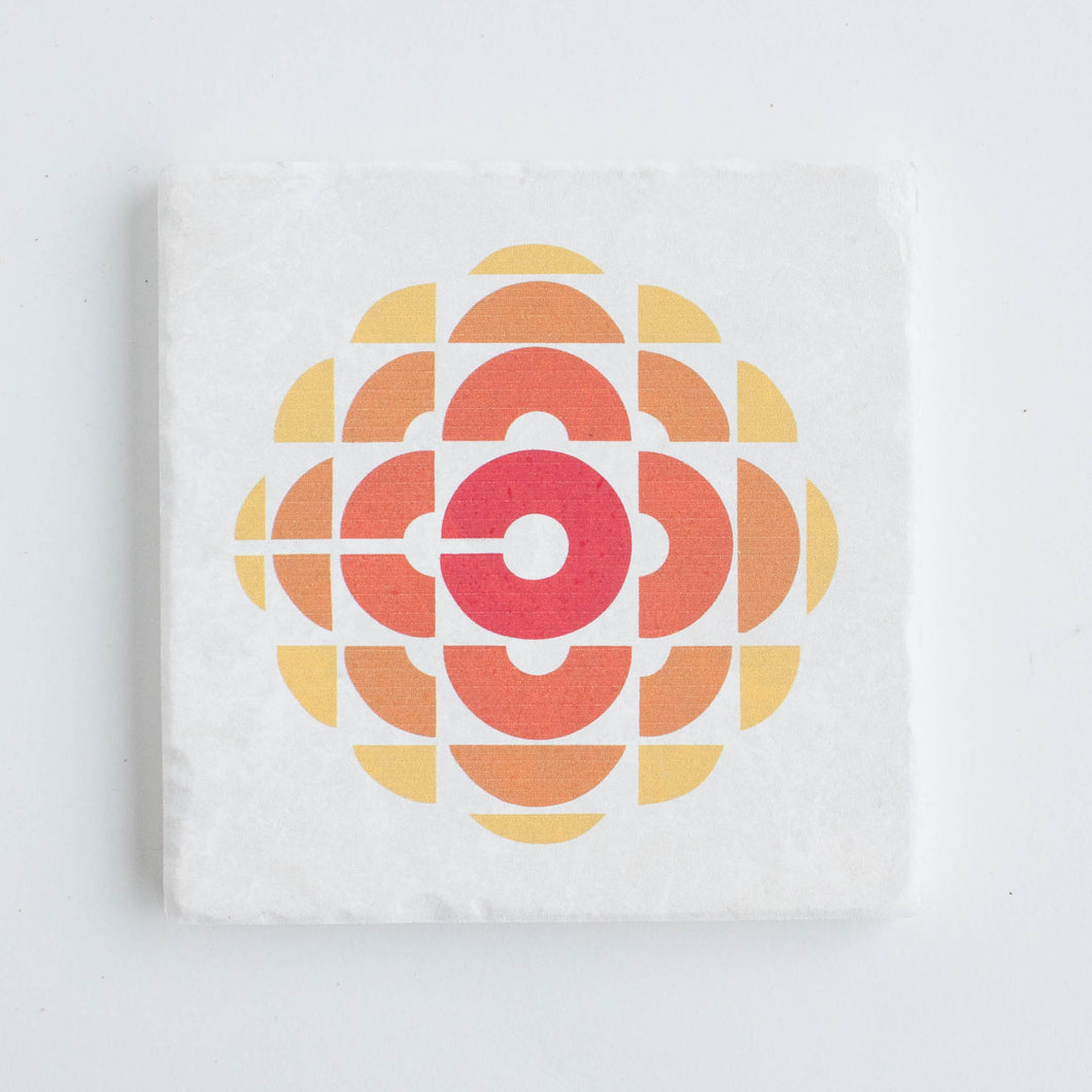 retro CBC logo coaster - single